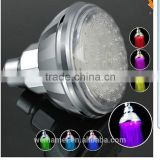 Bathroom faucet accessory LED lights overhead top shower head colors changing by water termperature