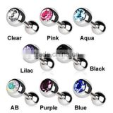 Crystal Gem Ball Cartilage Upper Ear Stud Earring Tragus Helix