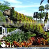 Large landscaping fake green garden sculpture topiary animal figurine