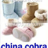 CHINA COBRA top quality warm keeper soft suede leather aby snow boots (newest popular design)