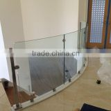 indoor stainless steel glass clamp frameless glass balustrades