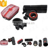 LED bicycle Light kit 3W LED bicycle front light and 13 LED Bike tail light