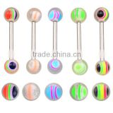 TR01046 cool piercing barbell colored tongue piercing