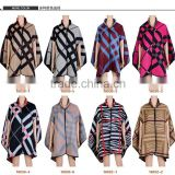 Good quality geometric peruvian alpaca wool poncho