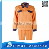 Custom Orange Used Work Uniforms Shirt Work Wear Uniform