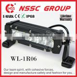 Factory produce 6 inch dot approved led light bar 35W 10-30V waterproof IP67 led light bar 6000K CREE led combo light bar 12v
