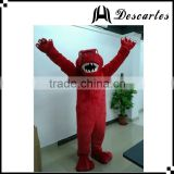 Custom made walking plush costume, adult red raptors mascot costume for basketball events