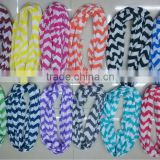 Hot Sale ! Toddlers Chevron Infinity Scarf Girls Wide and Long,Cotton Infinity Scarves, Knit Jersey, Zig Zag