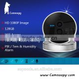 Camnoopy 2.0MP PIR detector wireless ip camera with 3D audio support tem&humi sensor p2p wifi ip camera