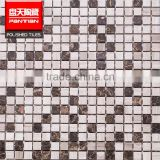 china white marble mosaic crystal glass mosaic                                                                                                         Supplier's Choice