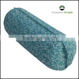 Cotton Canvas Bolster in Printed design in turquoise Color filling with Buckwheat hull