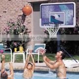 Swimming pool portable basketball backboard/swimming pool Lexan Basketball hoop backboard