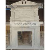 Natural Stone Luxury Double Fireplace Mantel