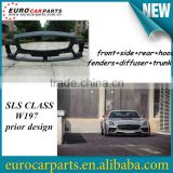 High quality FRP SLS CLASS W197 prior style body kit fitting for SLS CLASS W197 2 door supersport coupe