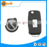 Top best Flip remote key case shell with logo 2 button remote flip car key cover for vw sharan Polo santana golf 4 3 5 6 7