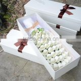 51pcs champagne Roses shape soap flower bouquet the surprise gift in valentine's day