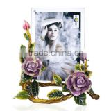 RORO Beautiful Life rose crystal glass enamel photo frame picture frame wedding gift home decoration