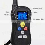 barking control device remote dog control collar with led display
