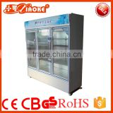 LC-780 Supermarket Restaurant Upright Showcase Freezer/Commercial Used 3 Glass Door Display Freezers