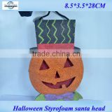 2014 new Styrofoam new moving halloween decoration pumpkin head from shenzhen factory