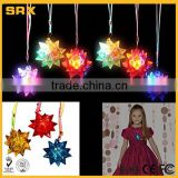 OEM Dazzling Toys LED Blinking Crystal Star Necklace Glow Toy Flash Lights