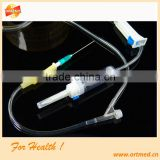 luer adapter needle latex injection site infusion set