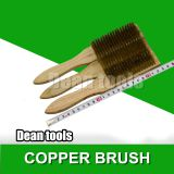 [DEAN TOOLS]Copper Graphite Carbon Brush,Copper Alloy Wire Brush Six Rows And Brass Brushes