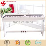 88-Key Graded Hammer Standard (GHS) Digital Piano (white & black) with pedal and bench smart piano