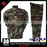 2000 pieces Stock price FOB USD 12.50 jungle camo polyester 655 COTTON 35% rip stop fabric 210 gsm military uniform on sale
