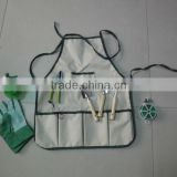Kids garden tools set with apron , children garden set with apron