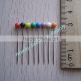 Pastel Raw Color Plastic Headed Staight Classic Dressmaker Pin
