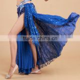 STELISY Cheap 6 color elegant arabic sexy dance long skirt,side silt skirt ladies belly dance costumes