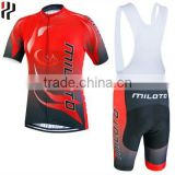 Wholesale custom cycling apparel comfortable breathable bicycle jersey sublimated short sleeve cycling jersey