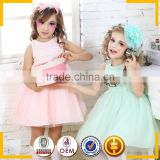 Pink and Green wholesale Party dresses for girls of 7 years old