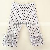 Wholsale baby Girl Ruffle pants, Customized Icing baby leggings available in many patterns