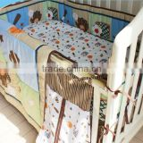 Hot sale sports baby boy bedding set crib