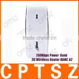 100% Original HAME A2 150Mbps Power Bank 3G WiFi Router,3G Router