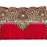 High-end Red Silk Beaded Clutch bags
