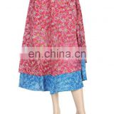Wholesale Silk wrap skirts,Indian Silk Sari Magic Wrap Skirts Indian Printed Wrap Around Skirt