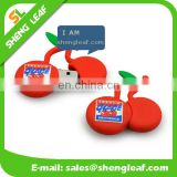 very cute cherry soft rubber usb flash drive custom design client logo