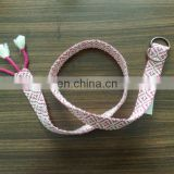 pink color braid belt for kids cute belts