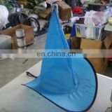 Custom Nylon cone-shaped outdoor foldable hat 190T