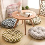 Round Seat Cushion Silk Cotton Core Cotton Polyester Tatami Cushion Pillow Home Decoration Car Soft Sofa Cushion