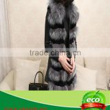 Real Rabbit Skin Luxurious Elegant Pretty Ladies Double Color Raccoon Hair Winter Coat On Sale