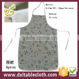 PVC Printed Bib Apron with nonwoven backing for kithchen
