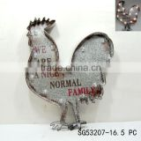 home decorative art lighted wall hanging rooster                                                                         Quality Choice