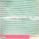 Beautiful Wholesale Baby Blue Microfiber Striped Coral Fleece Fabric, Cleaning Fabric IN ROLL