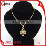 importing jewelry from china stainless steel jewelry flower necklace gold                                                                                                         Supplier's Choice