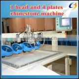 newest automatic ultrasonic hotfix rhinestone setting machine, one head and four plates