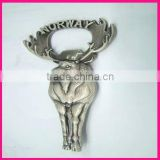fashion wine beer metal bottle opener norway deer souvenirs gift
